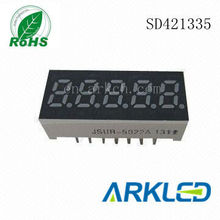 0.56 inch 5 digit 7 segment led wall countdown timer