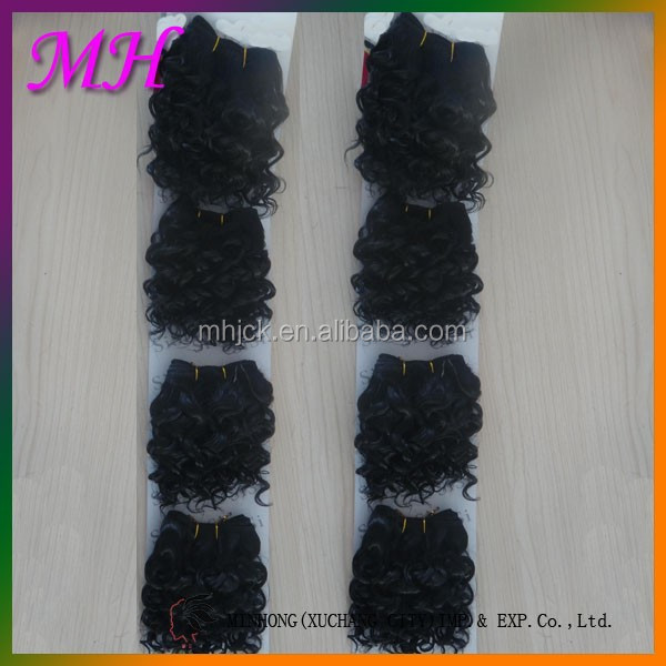 Wholesale High Quality 4PCS Jerry Curl Braids Synthetic Hair Extensions Making Machine