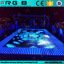 Super slim waterproof 61*61cm rgb olorful led glass video dance floor