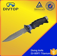 Titanium ABS Handle Sharp Serrated Professional Dive Knife