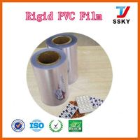 China school scrap rolls clear 3mm thick plastic for thermoforming hard pvc film roll