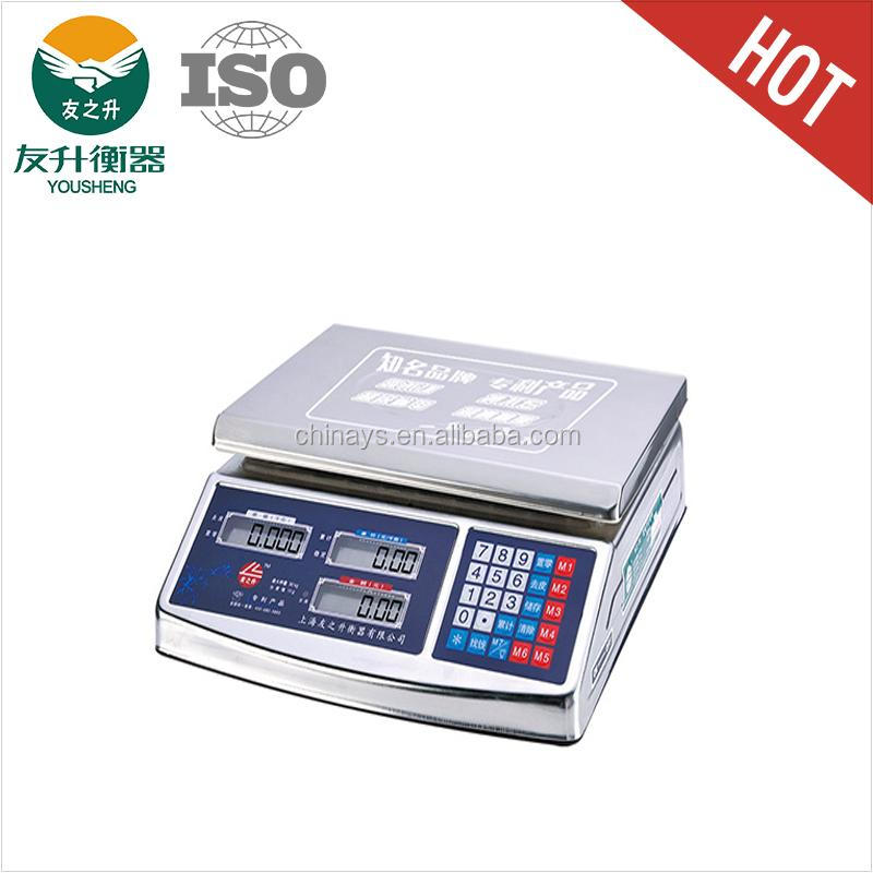 Full Stainless Steel Body Model YS - 158 Weighing Balance,Comfortable Keyboard,Sensitive Load Cell,Double Plate