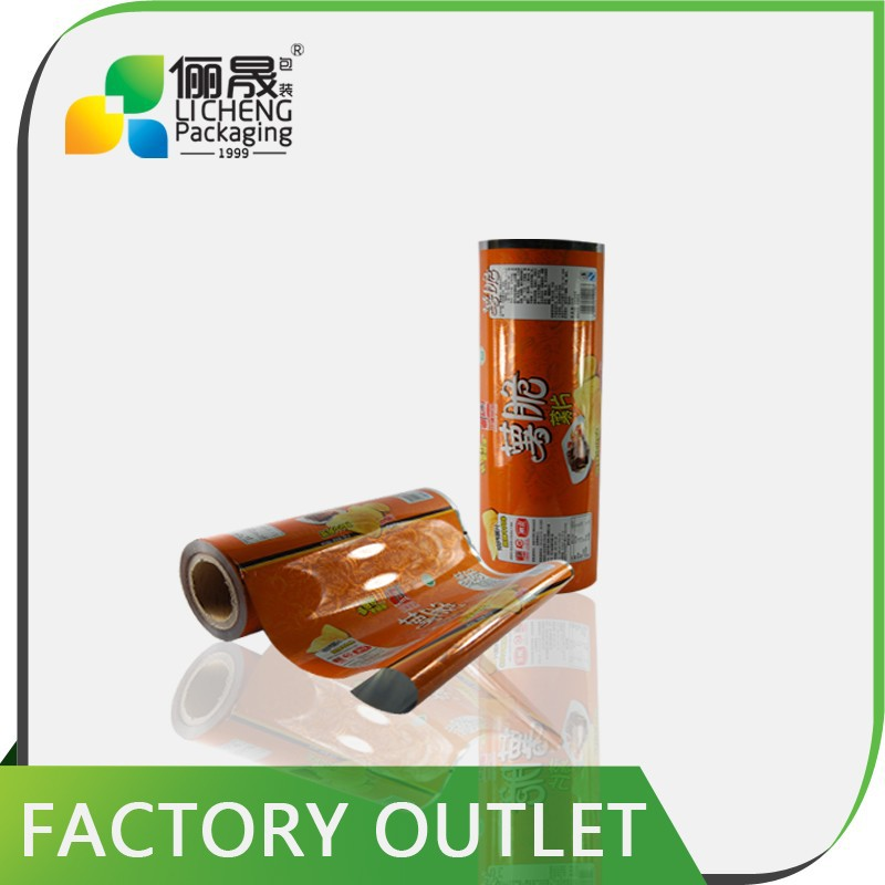 Colorful printed plastic laminating roll film for potato chips packaging bag