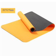 custom printed two color TPE yoga mat 6mm recycled