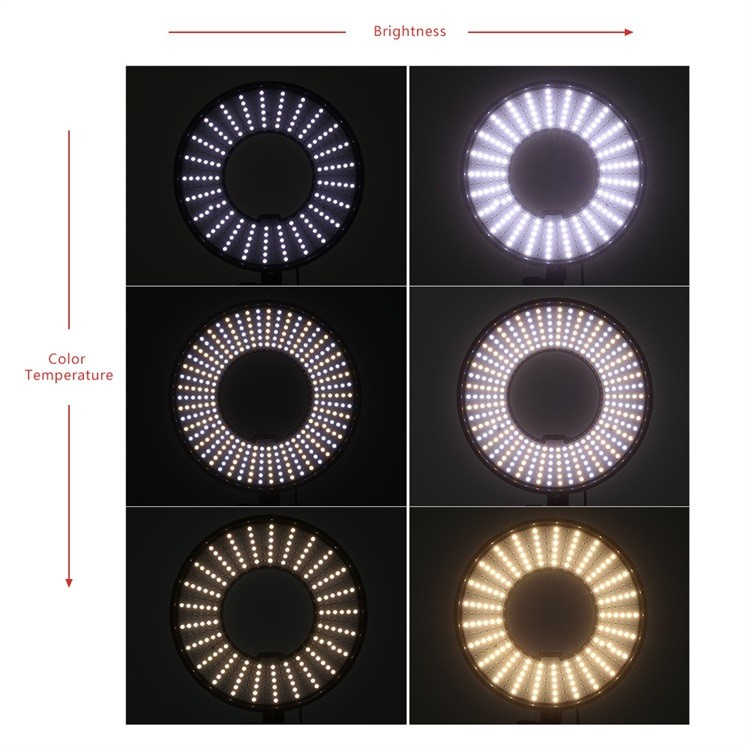 300 Ring LED Panel 3000K-7000K Film Shooting Continuous Light W Camera Bracket DVR-300DVC LED Photography Ring Light 17.jpg