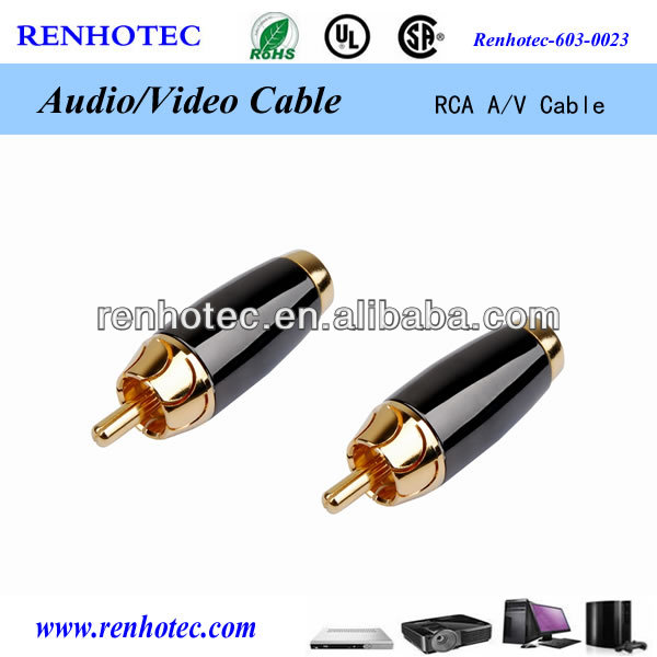 converter optical to rca male cable connector