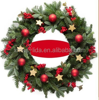 Hanging Artificial plastic PVC/PE Christmas BALL Wreaths Garlands
