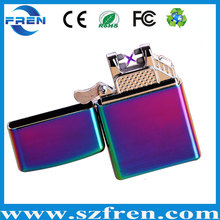 France cigarette lighter double arc rechargeable usb lighter for sale