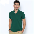turtle neck short sleeve customized cotton polyester t shirt wholesale