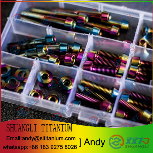 Titanium fasteners screws bolts and nuts