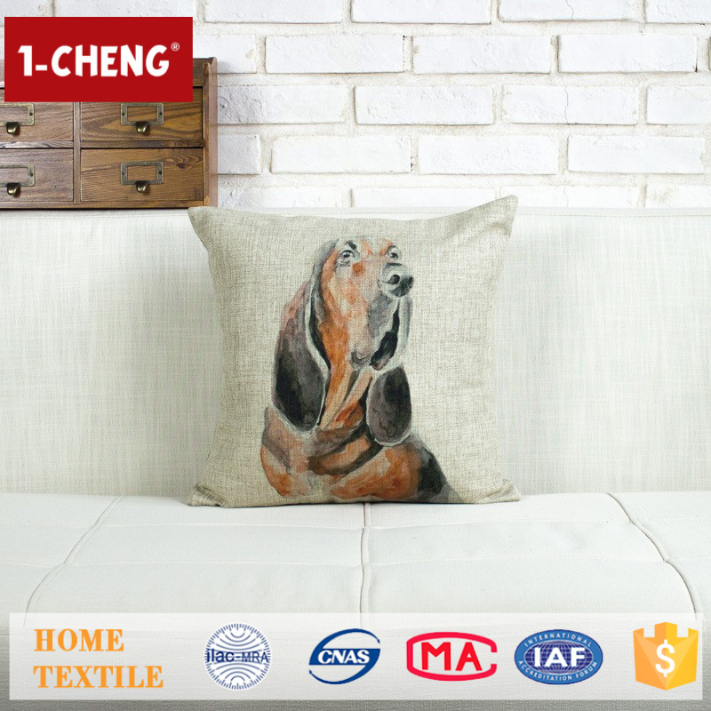 Trade Assurance Creative Dog Pattern Printed Design Custom Cushion Home Decor Pillow Case Silk Bedding Set