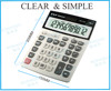 ronaduo desktop calculator plasti promotional gift desktop transperent mini solar calculator