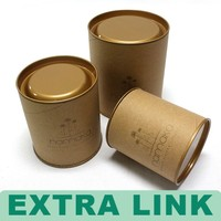 China Factory Extra Link High Quality Cylinder Cardboard Camacho Cigar Tube Packaging