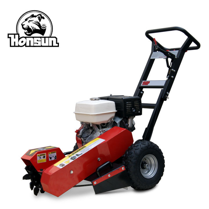 High output 13HP Honda GX390 engine cheap China supplier heavy duty mobile gas stump grinder for garden