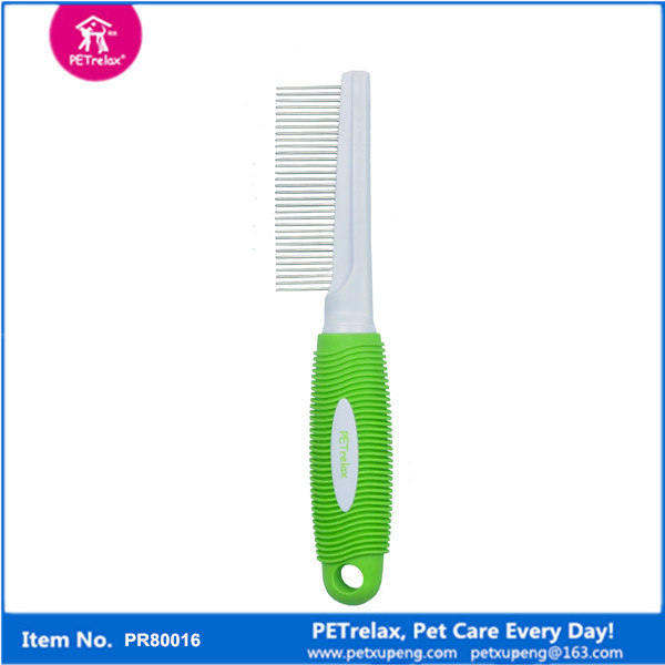 2015 fashion new dog 45 pins dense removal comb brush pet grooming for short hair dog PR80017