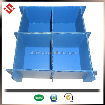 pp corrugated corflute corrugated plastic pallet dividers