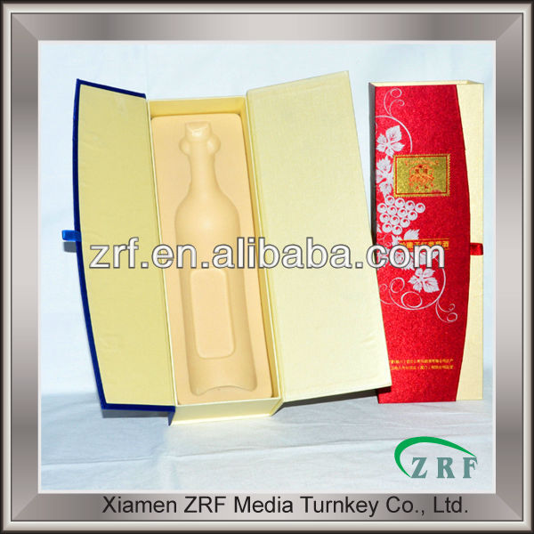 Recyclable promotional customized wine packaging box at factory price