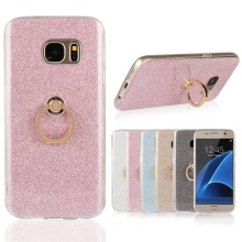 Glitter Bling Diamond Kickstand Ring Holder Back Cell Phone Cover Case For Samsung Galaxy S 3 4 6 7 8 9 Edge Plus A8 J5 J7 2018