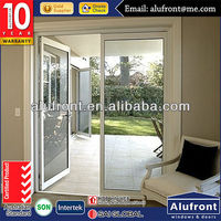hot sale white upvc commercial double beveled glass interior swing doors for buildings