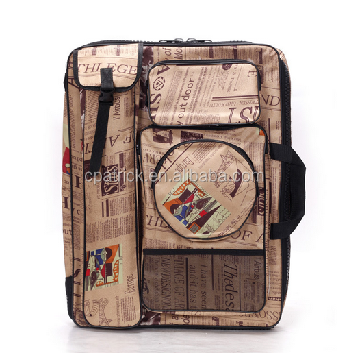 Fashion News paper pattern wholesale Artist painting bag for A4 drawing board