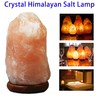 Crystal Himalyan Salt Lamp Power Cord with UL and Wooden Base