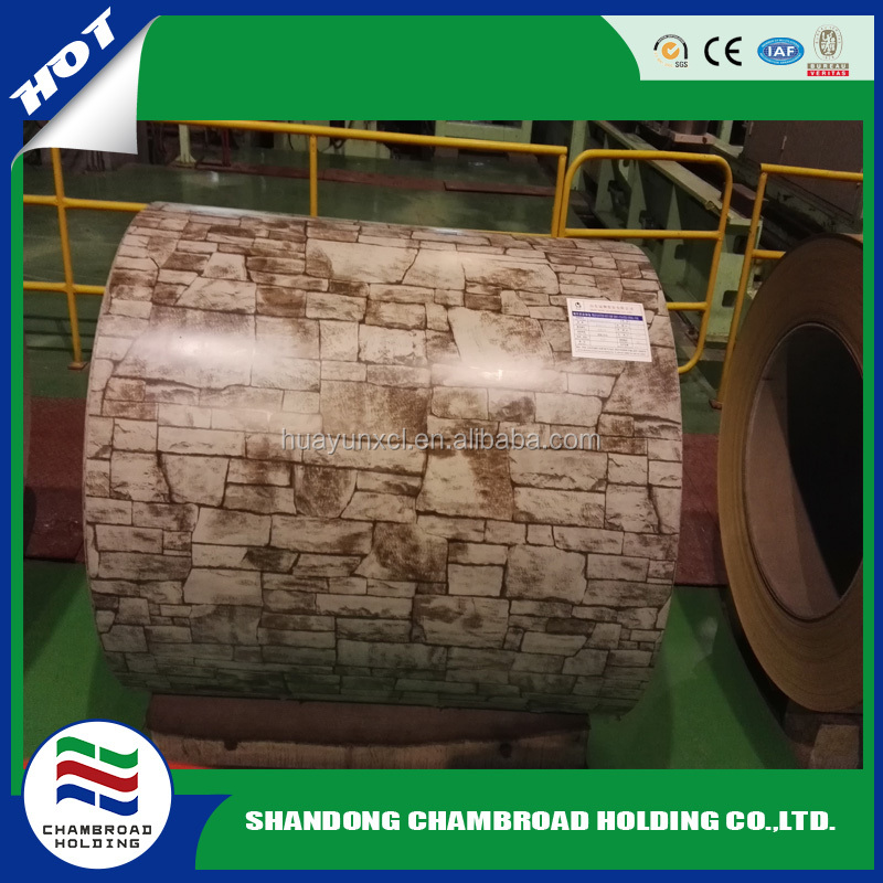 Trade assurance Stone Finished/ Wooden PPGI Color Coated Galvanized Coils alibaba website