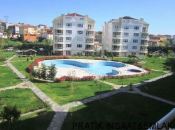 in Alemdag - Casa Grande site 2+1 flat for sale in istanbul