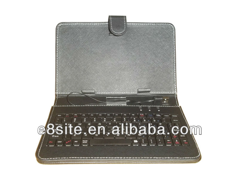 Universal 7 Inch Tablet Leather Cover Case With Keyboard