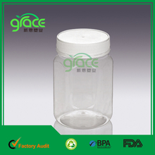 Sample free 730ml medicine packing clear capsule bottle/container/bullet shell with child safety cap/sex pill container