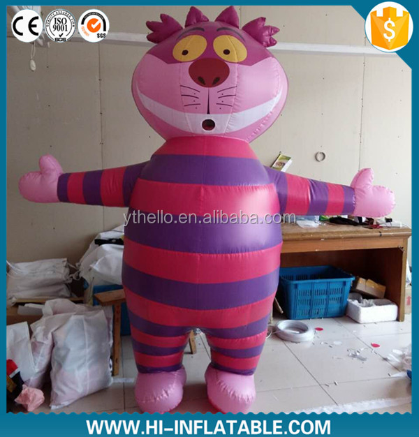 best selling inflatable moving Cheshire cat cartoon from ALICE IN WONDERLAND CHESHIRE CAT