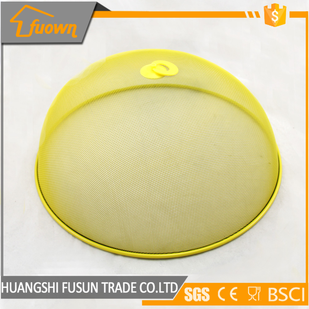 stainless steel yellow painted outdoor food cover