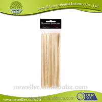 2014Wholesale promotion price hot stamp natural bamboo sticks barbecue bamboo meat sticks