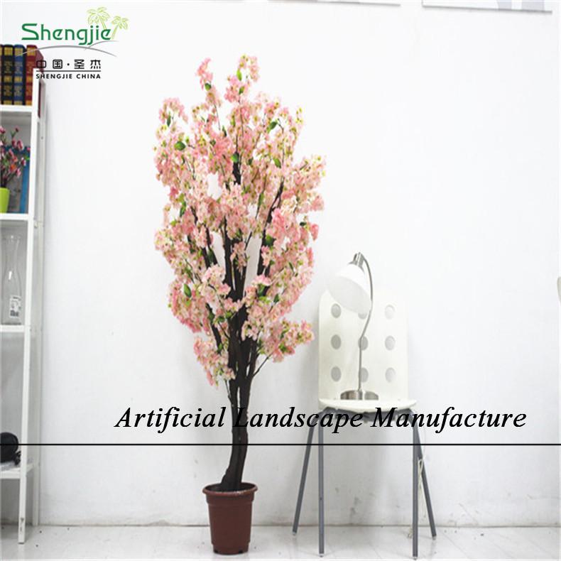 Sjc10 d coratif d 39 int rieur artificielle fleur de cerisier for Arbre decoratif interieur
