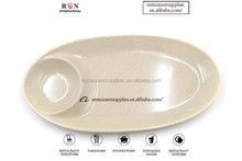 Melamine Tableware 2 Sections Divided Food Plate Snack Plate