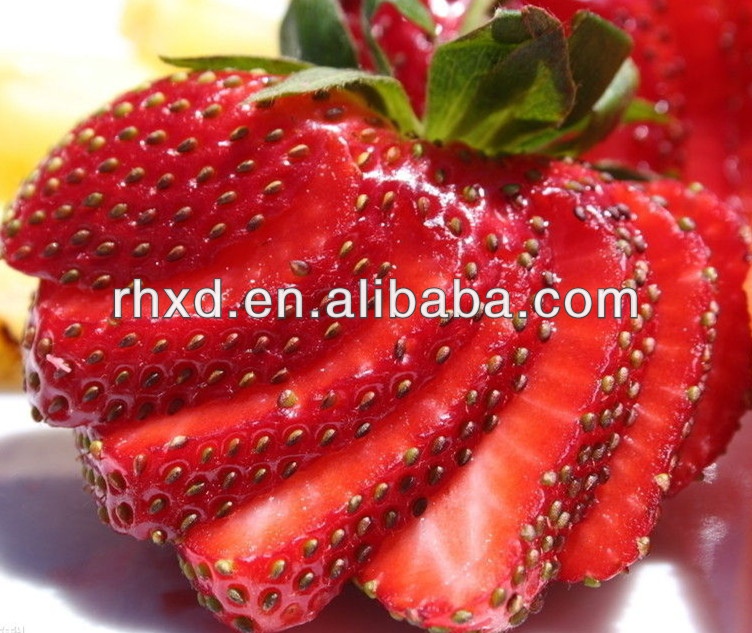sweet natural large frozen strawberry