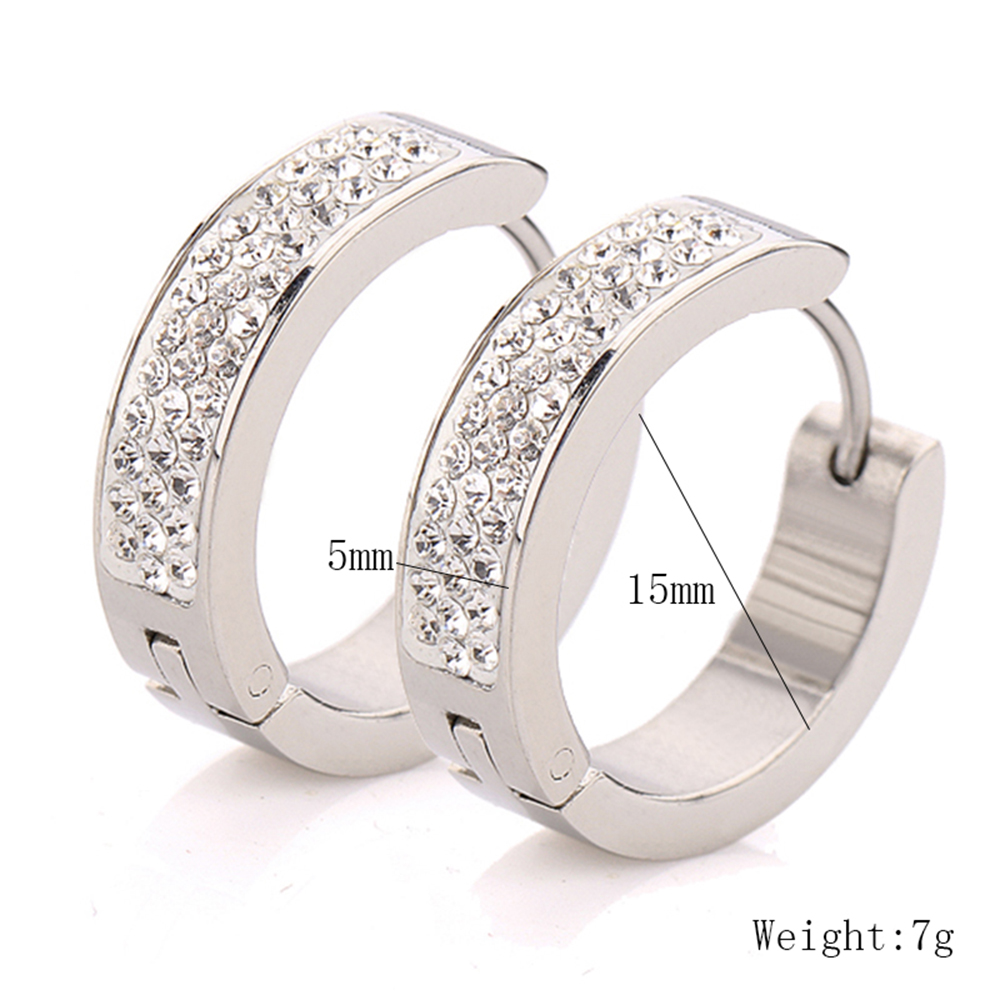 Factory Supply Women's Stainless Steel 패션 Crystal 또 귀걸이랑 Price