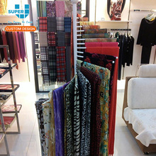 Fashion Stainless Steel Retail Scarf Shop Display Rack