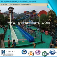 2015 exciting and attractive popular amusement equipment, water slide pool
