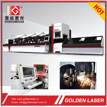 Fiber Laser Metal Pipe and Tube Cutting Machine with Automatic Bundle Loader