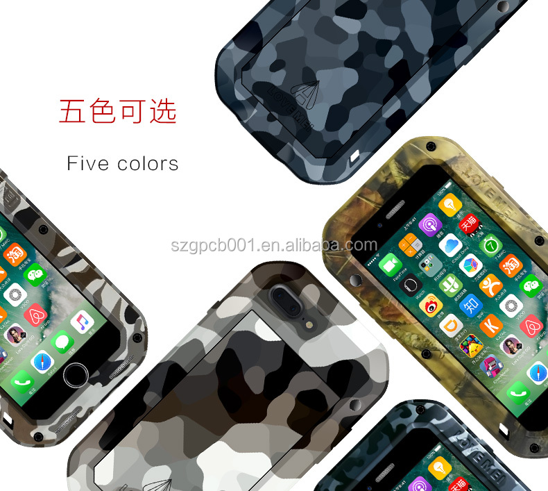 ORIGINAL Love Mei Powerful CAMO Case FOR IPHONE 7 SHOCkproof Rugged Metal METAL case +GORILLA GLASS FULL BODY TAKTIK CAMO