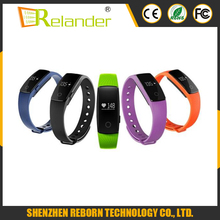 2016 Best-selling OLED bluetooth smart bracelet ID107 with Pedometer/Sleep monitor/heart rate monitor