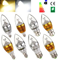 3W / 6W candelabra led candle light bulbs E12 E14 E27 B15 B22 dimmable 110V 220V lamp