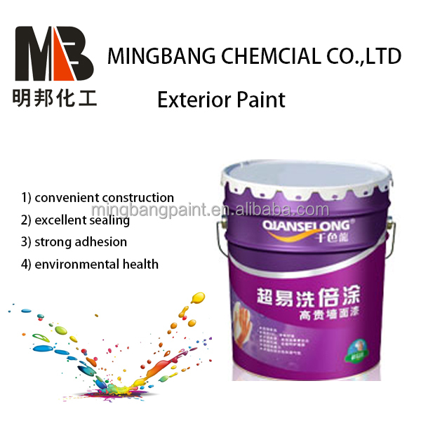 White oil based exterior wall paint