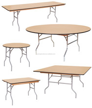 Round Wooden Catering Table