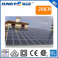 dongguan factory direct low price 20kw solar power system, solar pv mounting system for ground installation