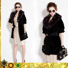 black fashion autumn/winter coat in dubai 2015 european clothing wholesale