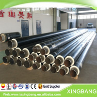 heat resistant rubber pipe insulation coated insulation steel pipe for hot water heating network