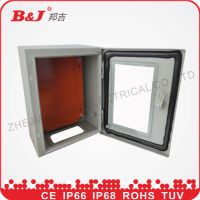 IP66 metal distribution enclosure box with glass