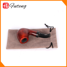 FT-517 Yiwu Futeng MIni Portable with a Cloth Bag Red Wood Smoking Pipes Weed