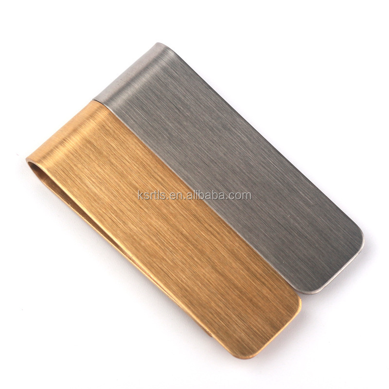 custom brass Promotional Useful Money Clip metal noney clip for gift